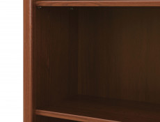 Bookcase Shelving Unit Classic Style Traditional Office Furniture Chestnut Finish - Kent