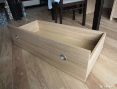 Underbed Storage Drawers for Double Bed in Wenge, White or Sonoma Oak Finish- Nepo (S301-LOZ3S_OPCJA-BI-KPL01)