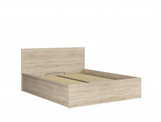 Modern Sonoma Oak Ottoman King Size Bed Frame with Gas Lift Up Storage Compartment - Tetrix (S442-LOZ/160/B-DSO-KPL01)