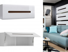 Modern White High Gloss Living Room Furniture Set TV Cabinet Wall Unit Sideboard Coffee Table - Azteca Trio (S504-LIVING_ROOM_SET_2-TRIO)