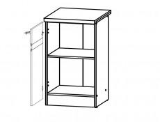 Modern Free Standing Kitchen Cabinet 500 Base Cupboard Unit 50cm Left Hand White Gloss/Oak - Junona (K24-D1D/50/82_L-BI/BIP/DCRZ-KPL01)