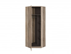Urban Free Standing Single Oak Corner Wardrobe Unit 1-Door - Malcolm (S325-SZFN1D-DAMO/SZW/DAMON-KPL01)