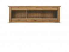 Traditional Wall Mounted Glass Display Cabinet Unit in Oak finish - Bergen