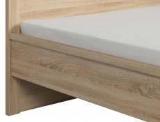 King Size Bedroom Furniture Set White Gloss Oak - Kaspian