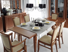 Traditional Dining Chair in Chestnut Solid Wood - Kent (EKRS)