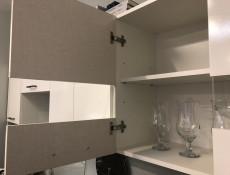 Modern White Gloss Kitchen Wall Glass Display Cabinet 800 Cupboard 80cm Unit - Junona (K24-G2W/80/57-BI/BIP-KPL01)