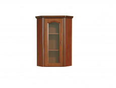 Glass Dresser Cabinet Top Unit Left Classic Style Traditional Living Room Furniture Cherry Finish - Natalia