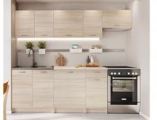 Complete Kitchen Set of 7 Cabinets Units Flat Pack in Sonoma Oak – Nela 2