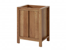 Classic Freestanding 60cm Vanity Bathroom 600 Cabinet, Ceramic Sink and Wall Mirror - Classic Oak (CLASSIC_820+CFP-9060_DP+840_SET_OAK)