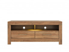 Modern Oak Finish Media Bench TV Cabinet Storage Unit 139 cm Entertainment Unit - Gent (S228-RTV2S/6/14-DAST-KPL01)