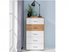 Tallboy Tall Chest of Drawers - Bari (S332-KOM5S-BI/DNA/BIP-KPL01)