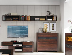Wall Shelf 100cm Left - Alhambra (POLL 100)