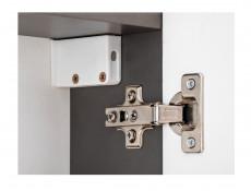 Modern Grey Mirror Bathroom Storage Cabinet 50cm Wall Unit with Mirrored Door and Shelf - Twist