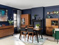Retro TV Cabinet Unit Storage Living Room Furniture Brown Oak - Madison (S431-RTV2D2S-DABR-KPL01)
