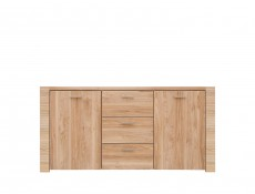 Large Sideboard Dresser Cabinet in Light Oak finish - Raflo (KOM2D3S/7/15)