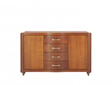 Classic Sideboard Dresser Cabinet Solid Wood Cherry finish - Alevil (KOM2D4S)