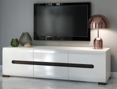 Azteca- Wide TV Cabinet Unit with Drawers 150cm White Gloss or Oak  (RTV2D2S/4/15)
