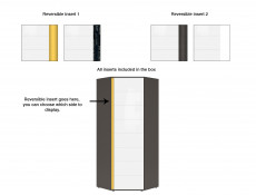 Corner Wardrobe Grey Kids Bedroom Reversible Colour Strip - Graphic
