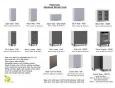 Free Standing Light Grey Kitchen Cabinet Cupboard Base Unit 60cm - Paula
