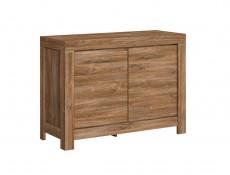 Modern 2 Door Compact Sideboard Storage Cabinet Dresser 115cm Unit Medium Oak Effect - Gent (S228-SFK2D/9/12-DAST-KPL01)
