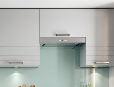 Light Grey Kitchen Extractor Housing Wall Cabinet 60cm 600 Cupboard Unit - Paula (STO-PAULA-W60_OKGR-GR/DOVE-KP01)