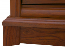Chest of Drawers Classic Style Traditional Bedroom Furniture Chestnut Finish - Kent (S10-EKOM5s/10-KA-KPL02)
