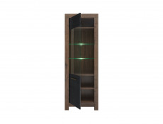 Tall Glass Display Cabinet With LED Light - Balin