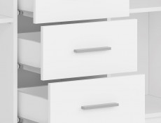 White Sideboard Dresser Cabinet Modern Living Room Storage Drawers Unit - Nepo (S435-KOM2D4S-BI-KPL01)