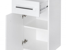 Wall Mounted Bathroom Cabinet Unit 1 drawer White High Gloss  - Active
