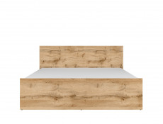 Modern Sturdy European Continental King Size Bed Frame Oak Finish - Matos