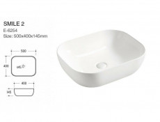 Modern Wall Mounted White Gloss / Oak Bathroom Furniture Set: Tall Laundry Basket Cabinet & 60cm Vanity Sink Unit - Aruba