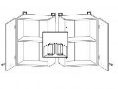 Modern Kitchen Wall Cabinet 500 Cupboard 50cm Unit White/White Gloss - Junona