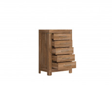 Tall Narrow Chest of Drawers Oak finish Tallboy - Gent