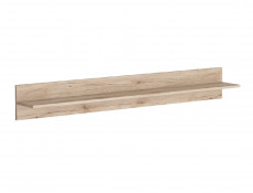 Sleek Modern 150cm Floating Wall Mounted Storage Display Shelf in Light Oak Effect Finish - Elpasso
