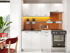 Complete Kitchen Set of 5 Cabinets Units Flat Pack in White Matt Effect finish – Nela 1 (STO-NELA_SET-5UNITS_1.2/1.8-WHITE)