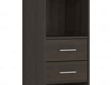 Bookcase Shelf Cabinet With 2 Drawers Wenge, White or Sonoma Oak Finish- Nepo