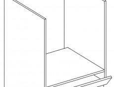 Kitchen Oven housing Base Cabinet 60cm White High Gloss - Roxi