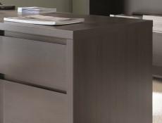 Modern Compact Sideboard Square 4 Door Cabinet Dark Wood Wenge - Kaspian (S128-KOM4D-WE/WE-KPL03)
