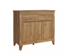 Traditional Light Oak Narrow Sideboard Cabinet Chest of 2 Drawers Living Room Dresser - Bergen (S359-KOM2D2S-MSZ-KPL01)