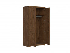 Traditional Two Door Wardrobe Classic Bedroom Storage Dark Oak - Patras (S405-SZF2D-DARL)