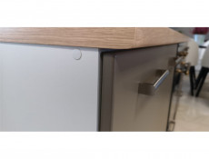 Free Standing Light Grey Kitchen Cabinet Cupboard Base Unit 60cm - Paula