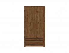 Classic Free Standing Double 2 Door Wardrobe with Drawer Unit Oak/Grey - Kada (S404-SZF2D1S-DARL-KPL02)