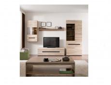 Sturdy Sleek Light Oak Effect Coffee Table with Spacious Storage Shelf - Elpasso