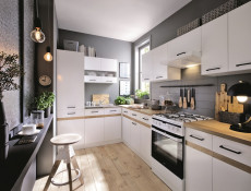 Modern White Display Shelf 50cm Mounted Under Kitchen Cabinet - Junona