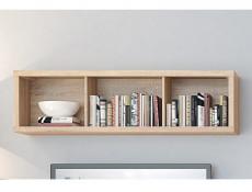 Modern Wall Cabinet Storage Display Shelf Open Shelving Light Oak Sonoma Oak - Kaspian (S128-SFW/140-DSO/DSO-KPL03)