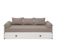Sofa Bed converts into King Size Bed White Wash Pine Shabby Chic or Oak finish - Indiana (JLOZ80/160)