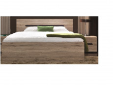 Modern Low European 160cm King Size Bed Frame with Solid Wood Slats in Light Oak Effect Finish - Elpasso
