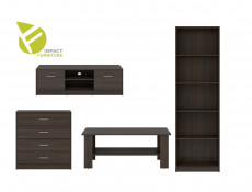 Living Room Furniture Set in White, Wenge or Oak finish - Nepo (NEPO LIV SET WENGE)