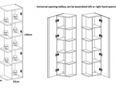 Modern White Gloss Bathroom Furniture Set 60cm Sink Cabinet Wall Storage Units Tallboy - Twist