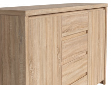 King Size Bedroom Furniture Set Oak finish - Kaspian